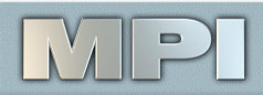 MPI Logo with blue background